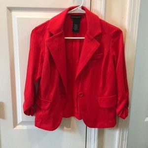 Metaphor red blazer